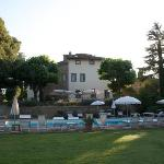 View of Villa di Piazzno across the pool