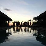 The Casa de Olas crew at sunset!