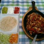 Fabulous fajitas served to order.