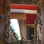 Mirror in the bar area