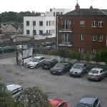 Hotel parking lot - view from room