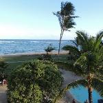 Viwe of Ocean, looking left off balcony