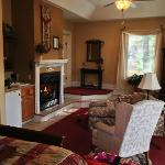 Fireplace and Sitting Area in White Sulphur Suite