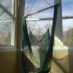 Hammock Swing on Porch of White Sulphur Suite