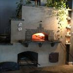 wood fired oven at Folino's