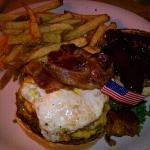 Canyon Creek Burger w/ fries, delicious!