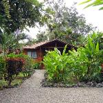 Cute bungalows and gorgeous gardens at Casa Marcellino in Cahuita