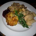 Turkey dinner at Thanksgiving