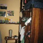 Cabin interior shelves/closet