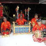 Balinese musicians in the restaurant