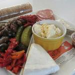 Order a delicious anti-pasto & cheese platter