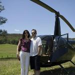 Indulge with a helicopter lunch tour from the property