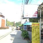 shops opposite the hotel