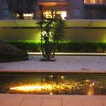 Hotel front courtyard