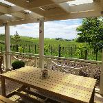 Outdoor seating with rural view