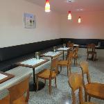 Aegean pizzeria interior