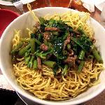Sate Beef Kangkong crispy noodles