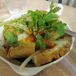Indonesian Tauhu (tofu) with sweet and sour sauce