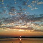 Skøn solnedgang over Bandholm