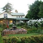 Garden view on restaurant
