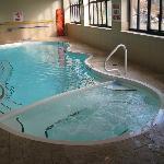 Pool and hot tub area.