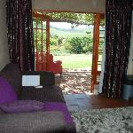 Pinotage living room, kitchenette and view