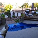 The pool area and terrasse