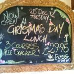 Only £29.95 for Christmas Day Lunch.