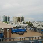 Blick von Dachpool