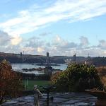 View from the veranda of Menai Bridge & Straits