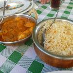 Arroz y pollo al curry