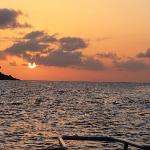 coucher de soleil sur l'excursion porposé par hôtel