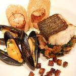 Seafood assiette (starter)