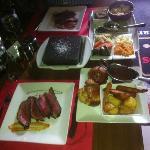 Sunday roast beef & vegetables