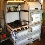 The Duck Inn's magnificent vintage gas oven and range, from which Elyse produces the best breakf
