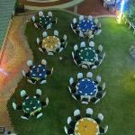Dinner table setting. seen from above
