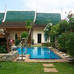 i bungalow e la piscina