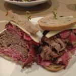 The Brisket, Pastrami, Corned Beef and Swiss on Rye