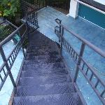 Escaleras hacia el tercer piso