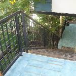 Escaleras hacia el segundo piso