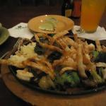 Sizzling Asian Shrimp and cilantro