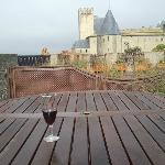view from our terrace. wine is a must.