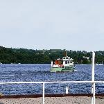 Steamer drops us off and sails away