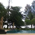 pool located about 30 meters from the beach