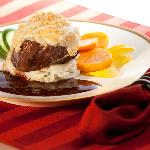 Gorgonzola Encrusted Filet - one of our most popular entrees