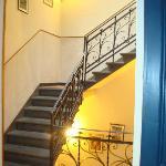 Le scale per arrivare ai piani