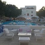 Beautiful pool, lounging area.