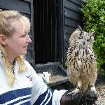 Me Wife with one of the bigger Owls