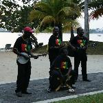 Band playing Bob Marley tunes
