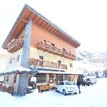 Hotel in daytime in winter